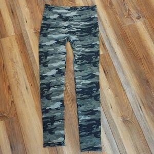 Ultra Flirt Fleece Lined Camouflage Leggings - S